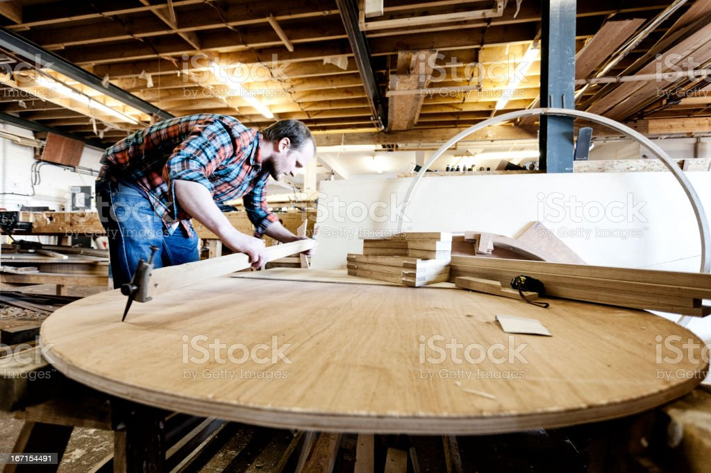 Wooden boat building stock photo