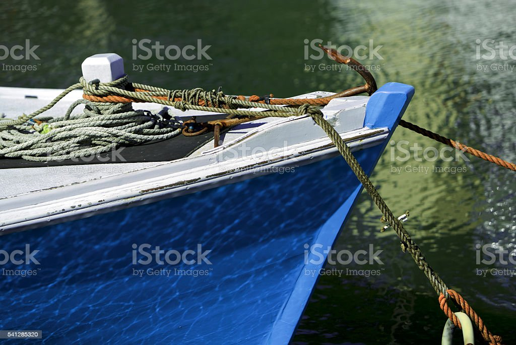 Wooden boat, labour stock photo