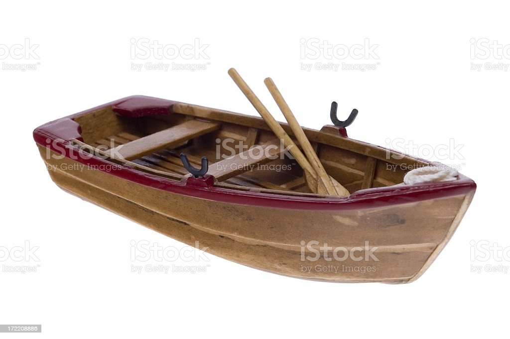 Wooden Boat Model 4 royalty-free stock photo