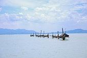 Wooden boat near Vung Tau beach, Vietnam