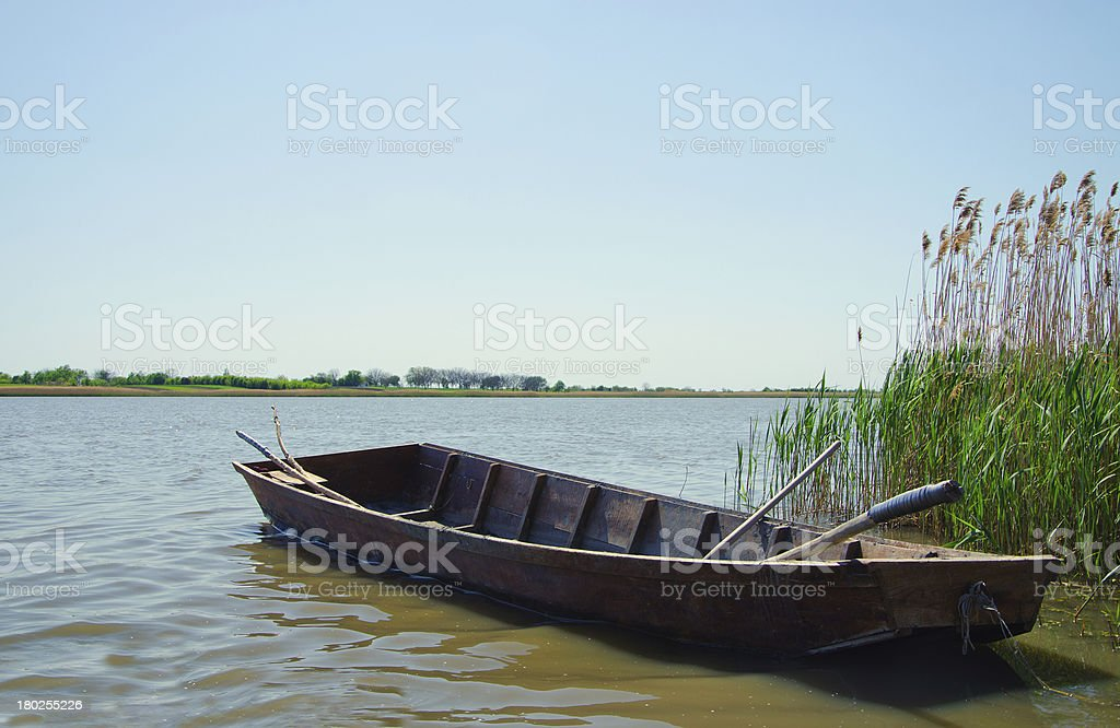 Wooden boat royalty-free stock photo