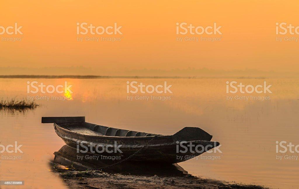 Drewniane łodzi zbiór zdjęć royalty-free