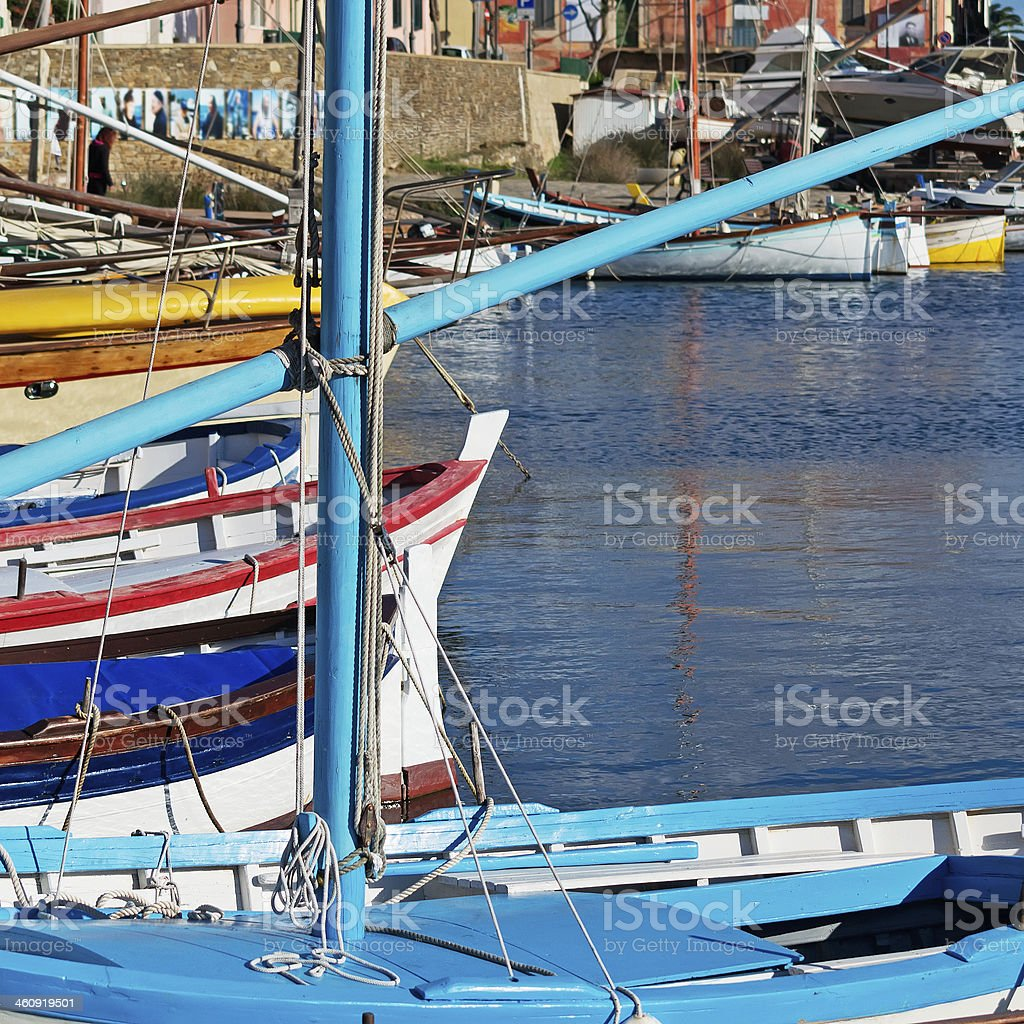 wooden boats royalty-free stock photo