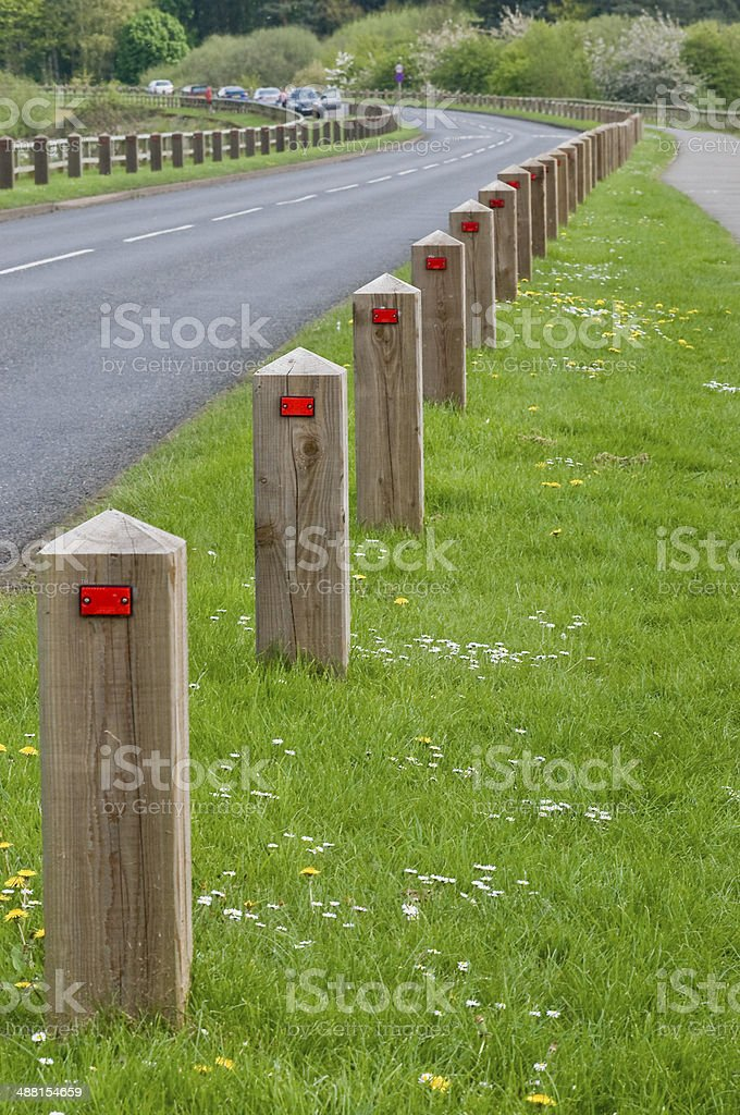 Wooden Bollards royalty-free stock photo