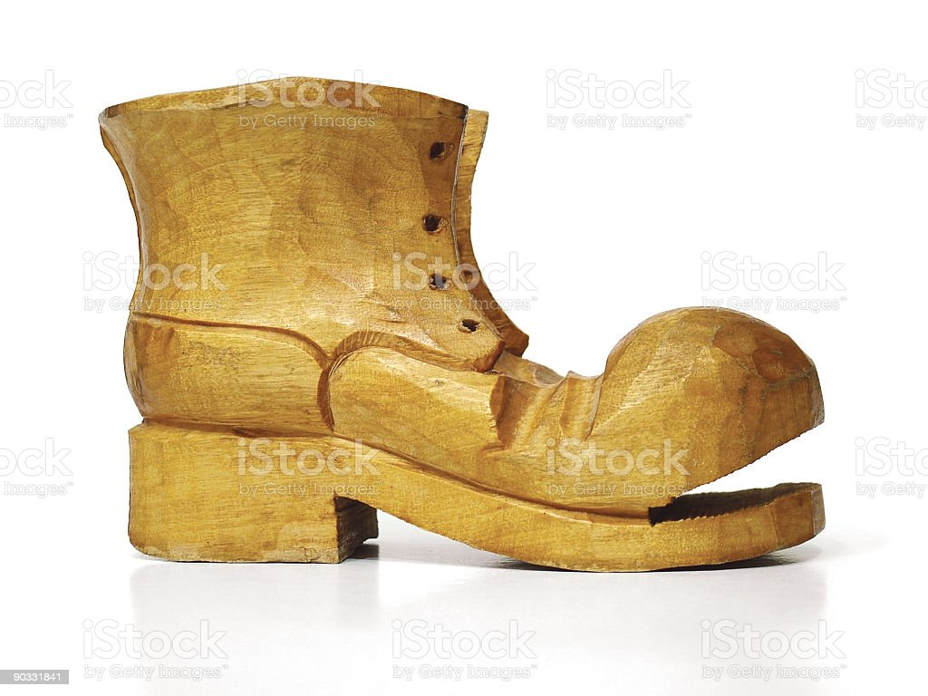 Wooden Boot royalty-free stock photo