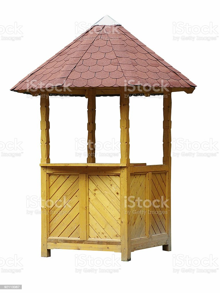 Wooden Booth royalty-free stock photo
