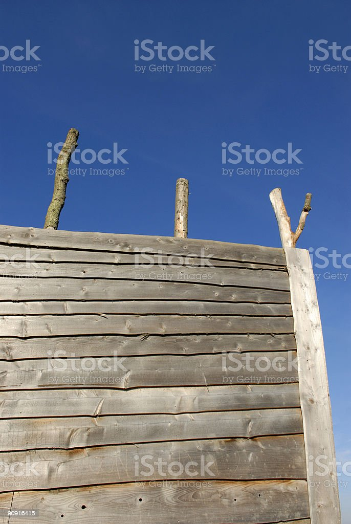 Wooden bow stock photo