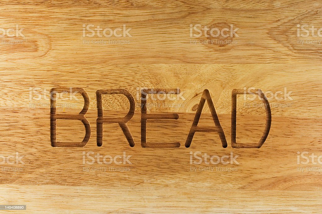 Wooden box for bread royalty-free stock photo