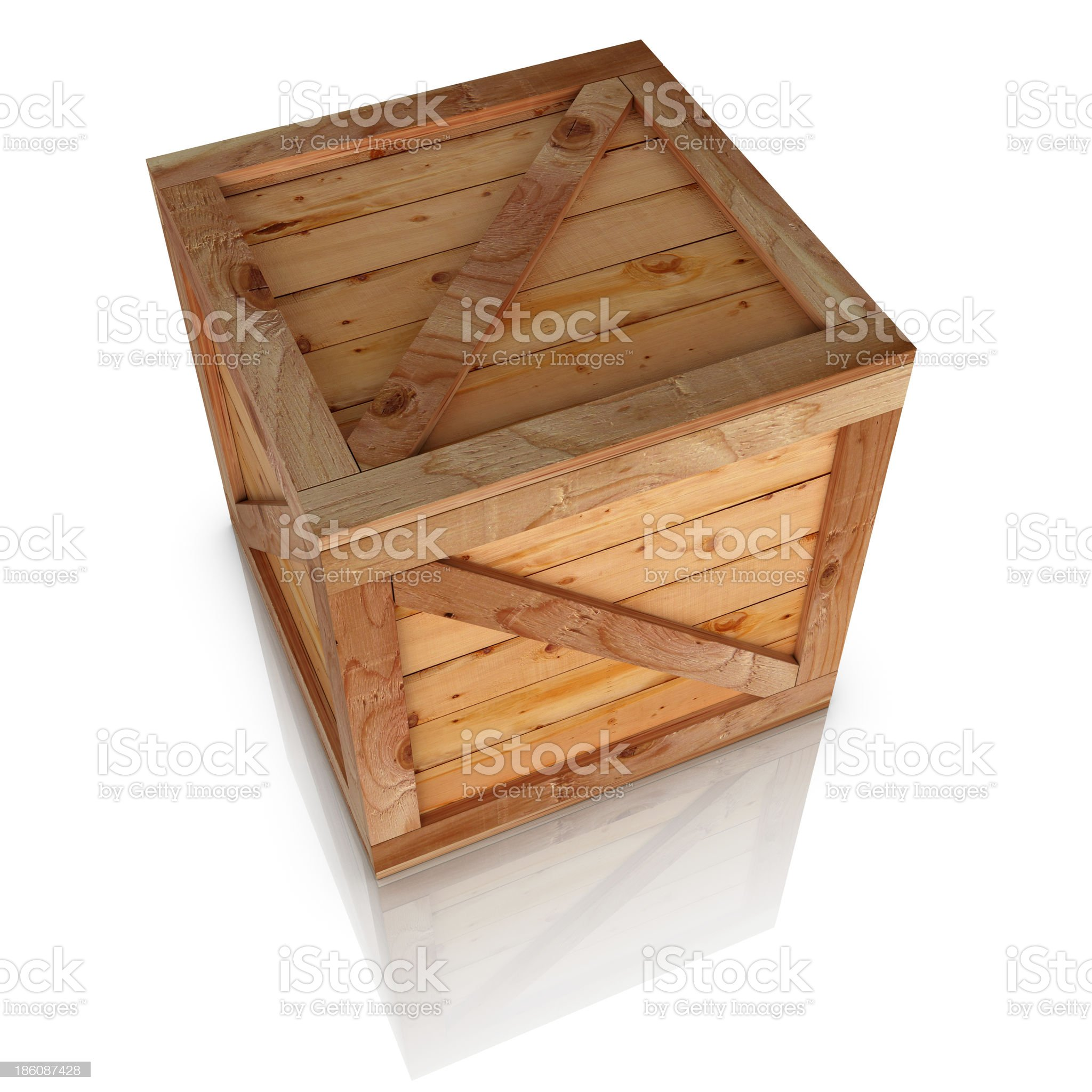 Wooden box high angle view royalty-free stock photo