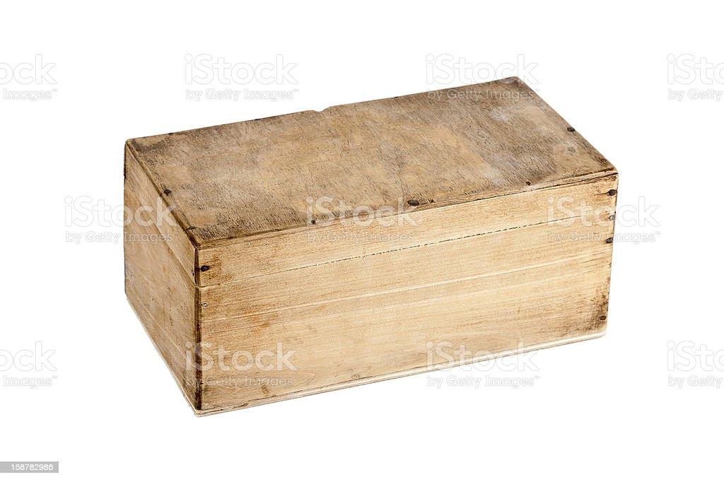 Wooden box royalty-free stock photo