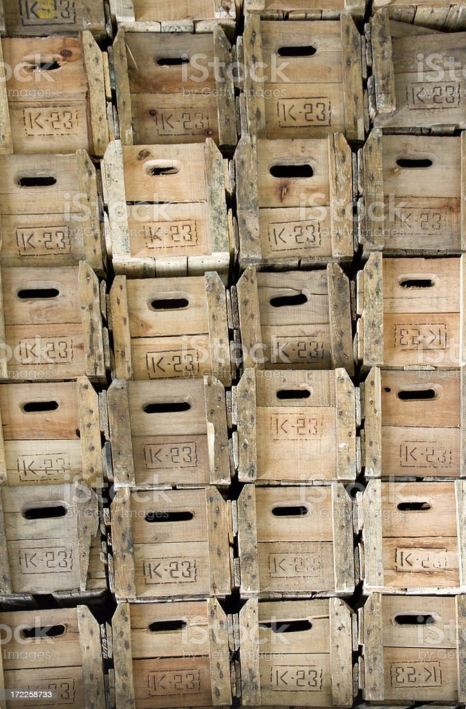 Wooden boxes royalty-free stock photo