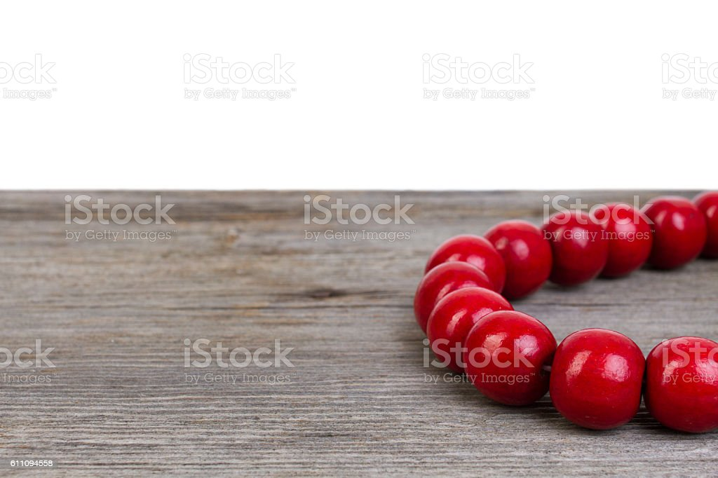 wooden bracelet stock photo