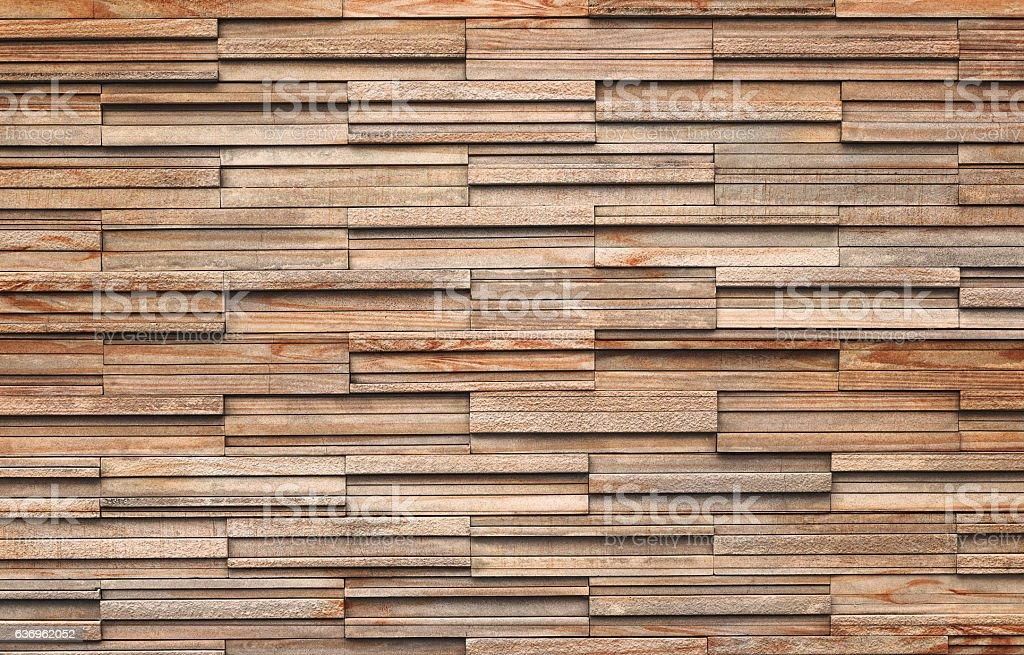 Wooden bricks slate wall texture background stock photo
