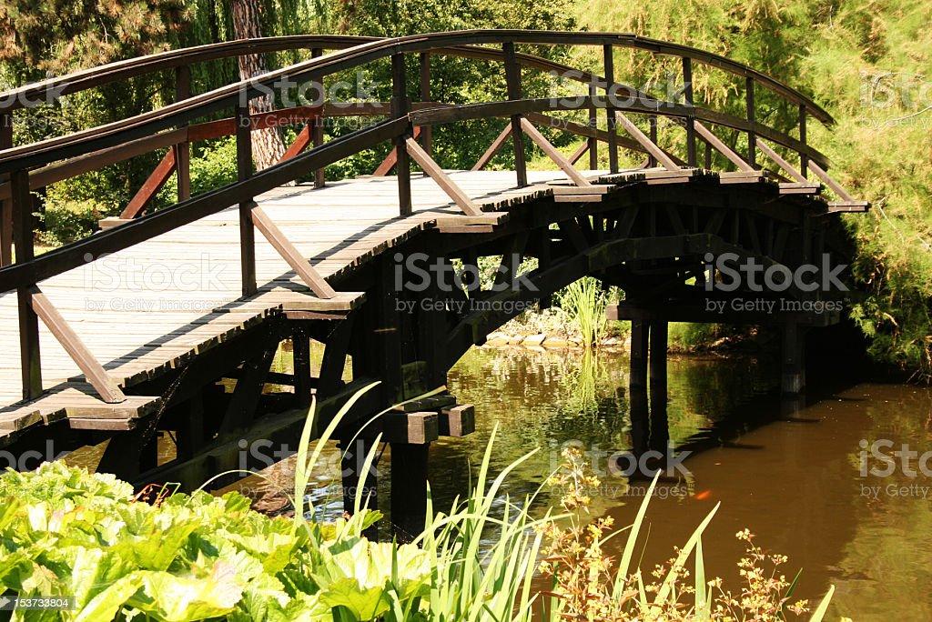 Ponte di legno foto stock royalty-free
