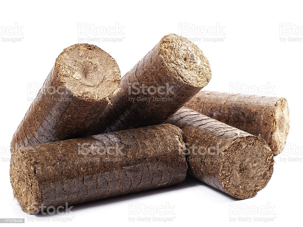 Wooden briquettes royalty-free stock photo