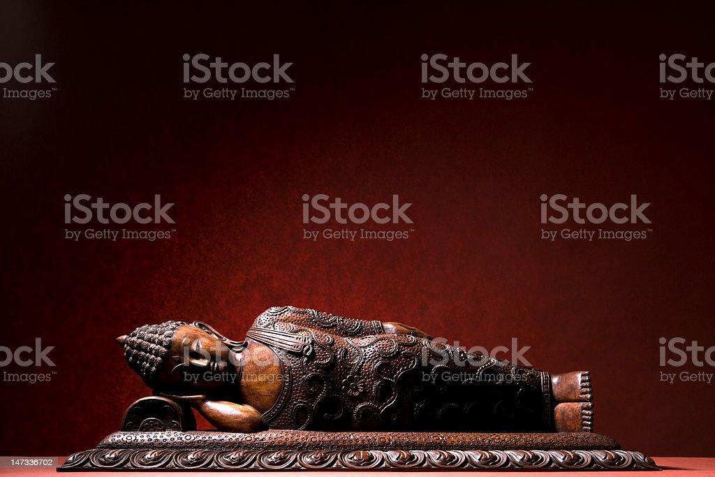 wooden Buddha statue royalty-free stock photo