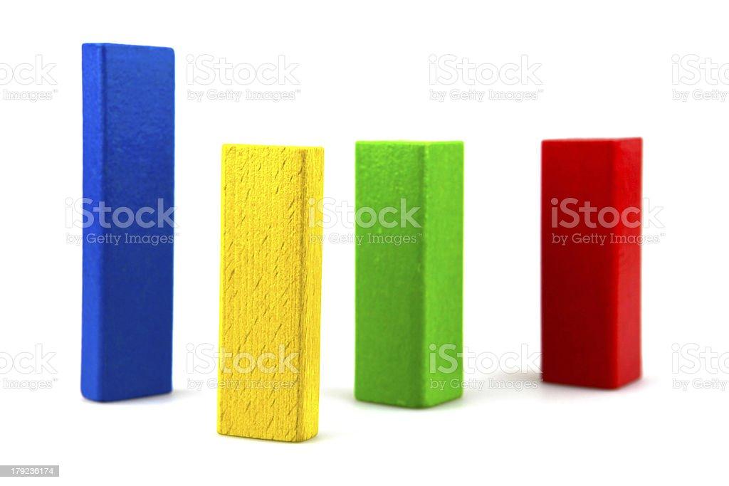 Wooden building blocks royalty-free stock photo