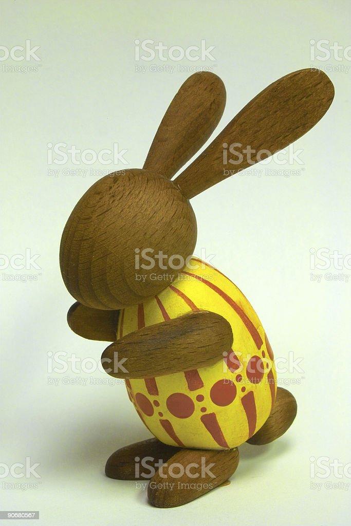 wooden bunny stock photo