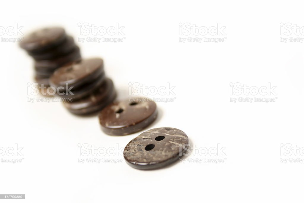 wooden buttons royalty-free stock photo