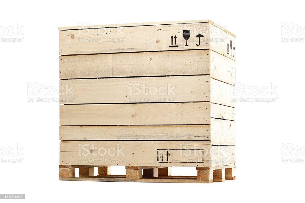 wooden cargo box royalty-free stock photo