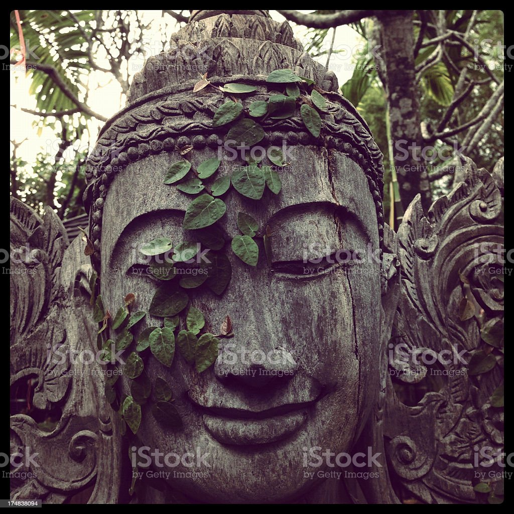 Wooden carved head royalty-free stock photo