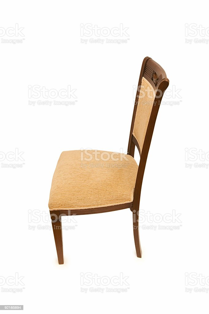 Wooden chair isolated on the white background royalty-free stock photo