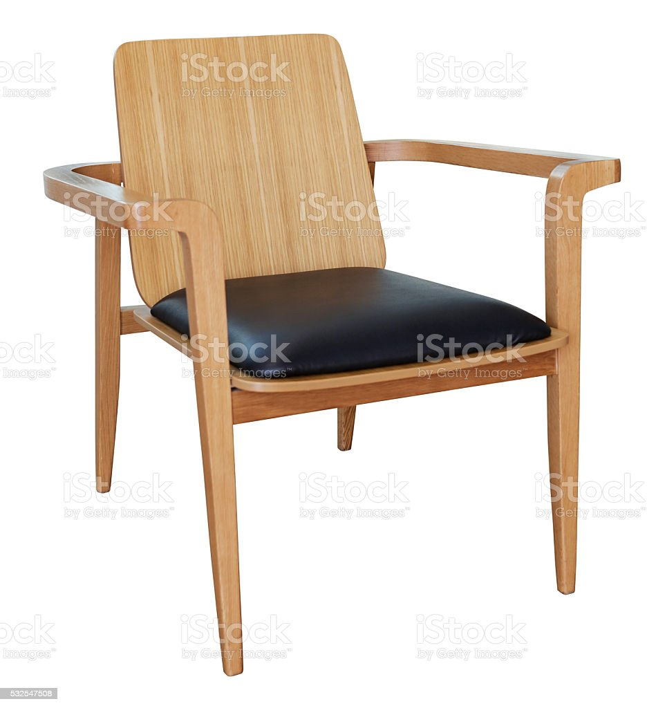 wooden chair isolated on white stock photo