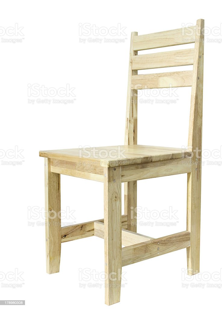 Wooden Chair on isolated royalty-free stock photo