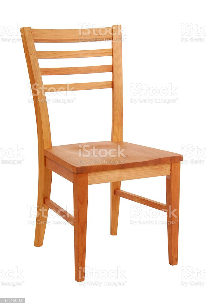 Wooden chair stock photo
