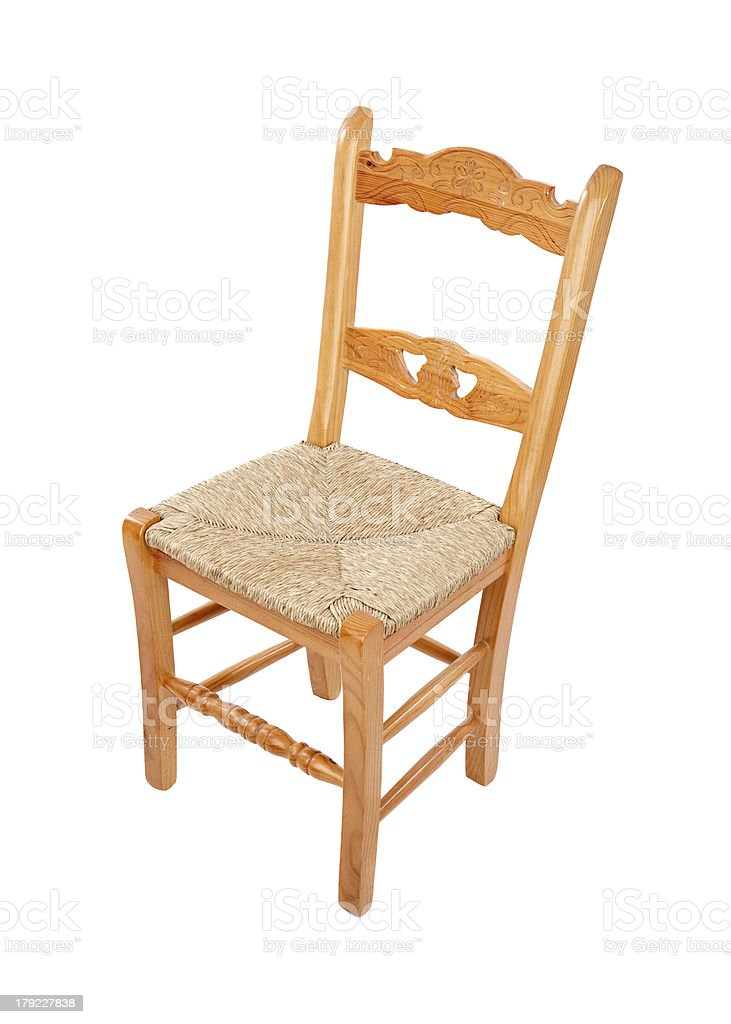 Wooden chairo of home royalty-free stock photo