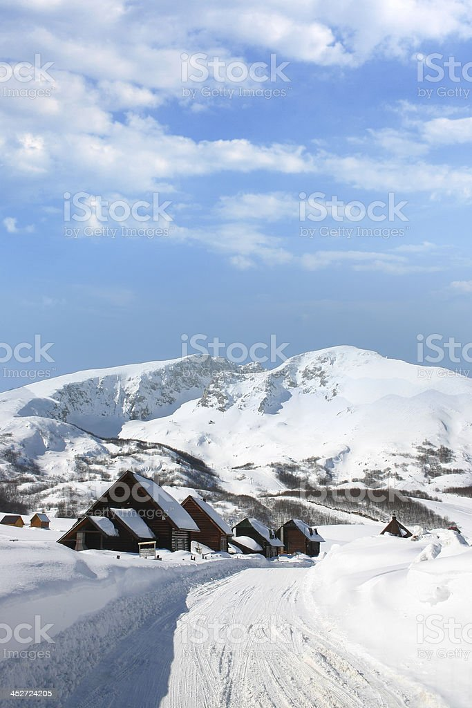Wooden chalets royalty-free stock photo