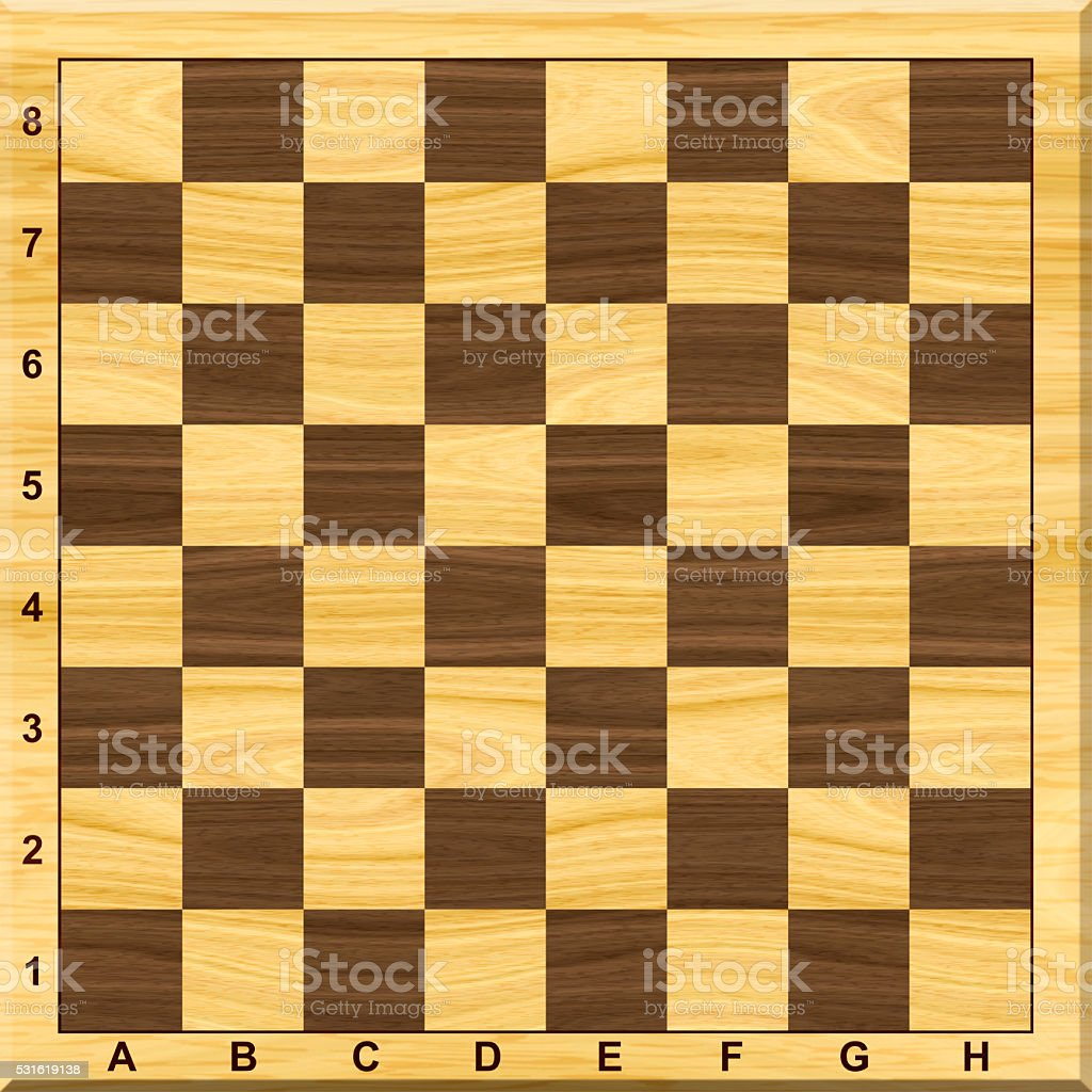 Wooden Chess board. stock photo
