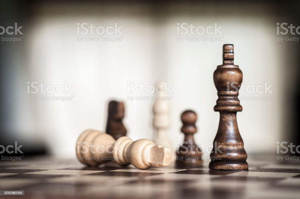 Wooden Chess Figures stock photo
