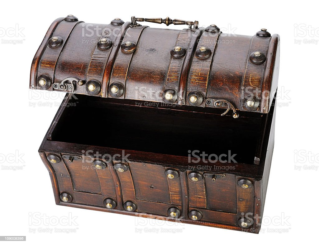 Wooden chest. royalty-free stock photo