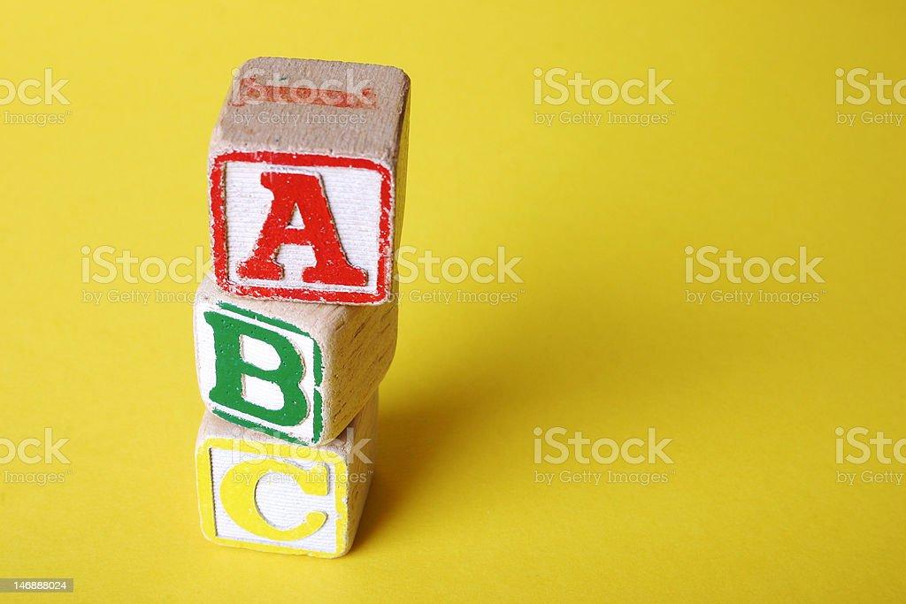 Wooden Children's Blocks royalty-free stock photo