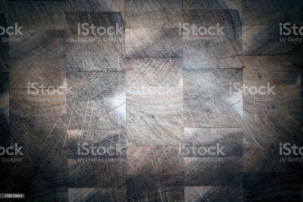 Wooden chopping board background with vignette, copy spaec royalty-free stock photo