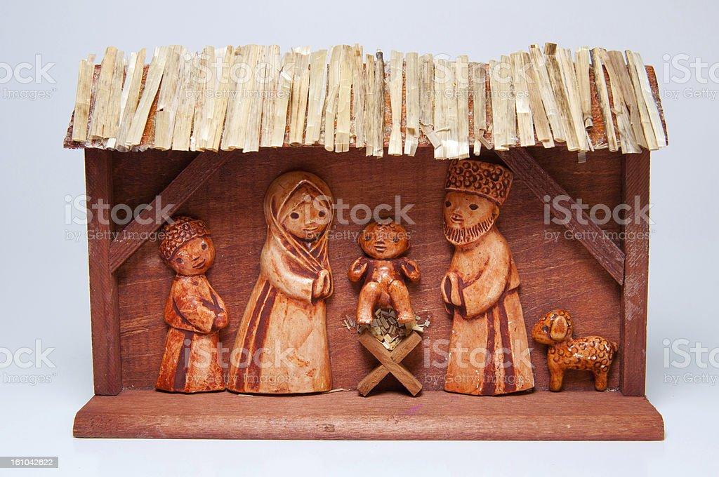 Wooden Christmas Crib royalty-free stock photo