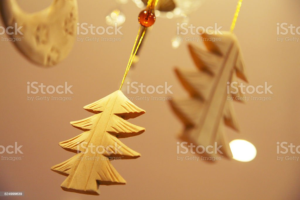 Wooden Christmas trees royalty-free stock photo