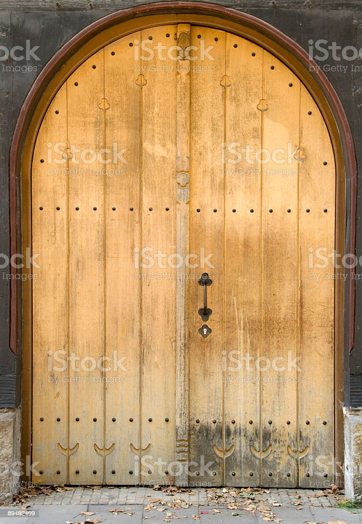 Wooden Church entry royalty-free stock photo