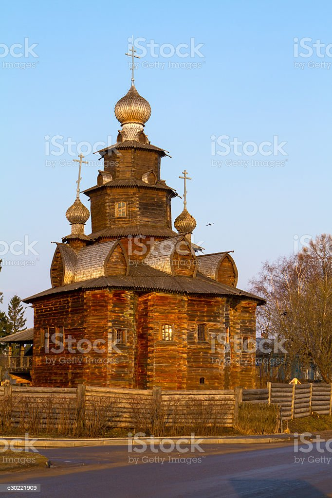 Wooden Church in Suzdal stock photo