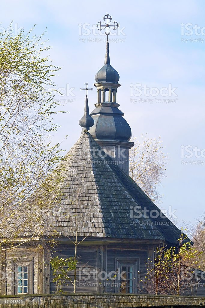 Wooden church. royalty-free stock photo