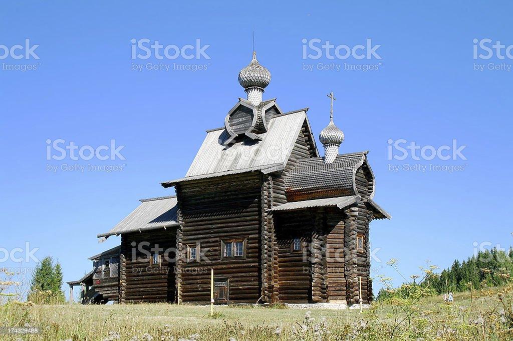 Wooden church stock photo
