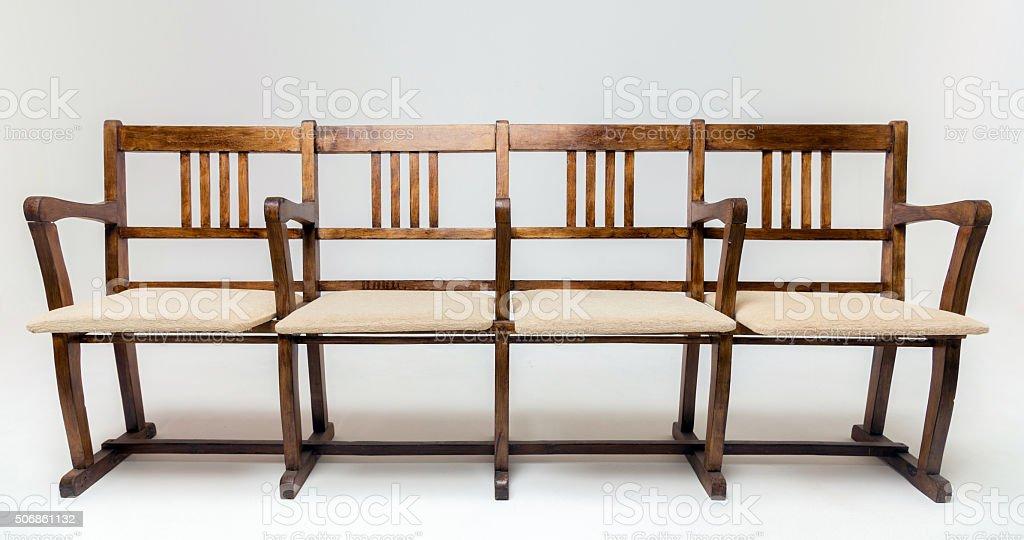 Wooden Cinema Chairs stock photo