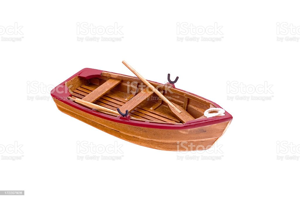 wooden classical boat model royalty-free stock photo