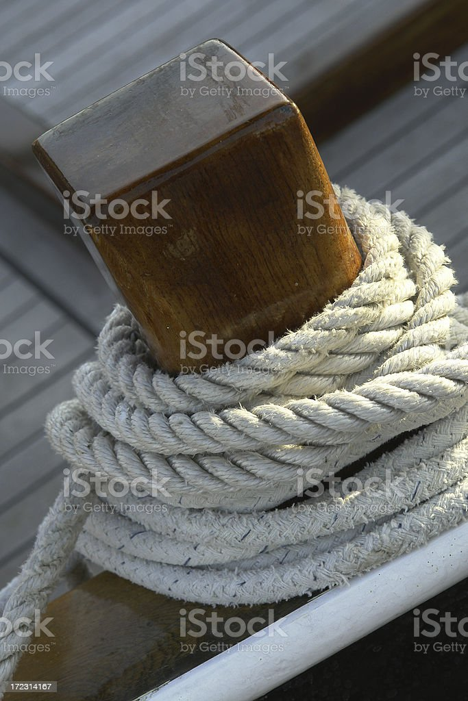 Wooden Cleat royalty-free stock photo