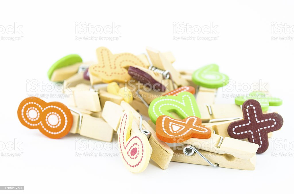 wooden clip with number royalty-free stock photo