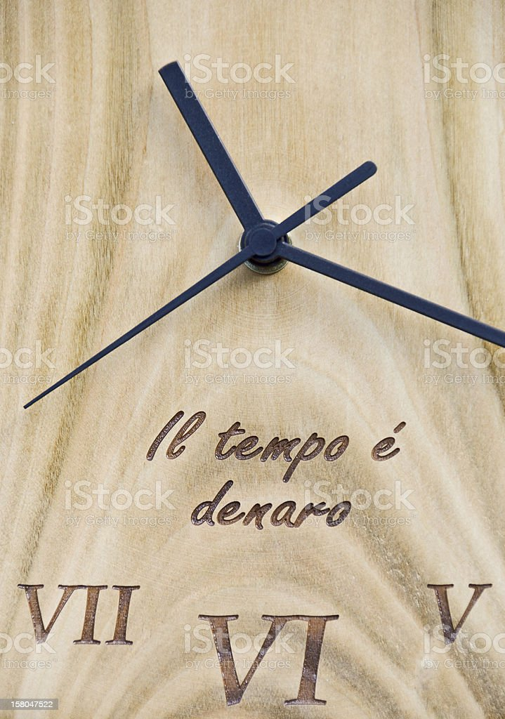 wooden clock royalty-free stock photo