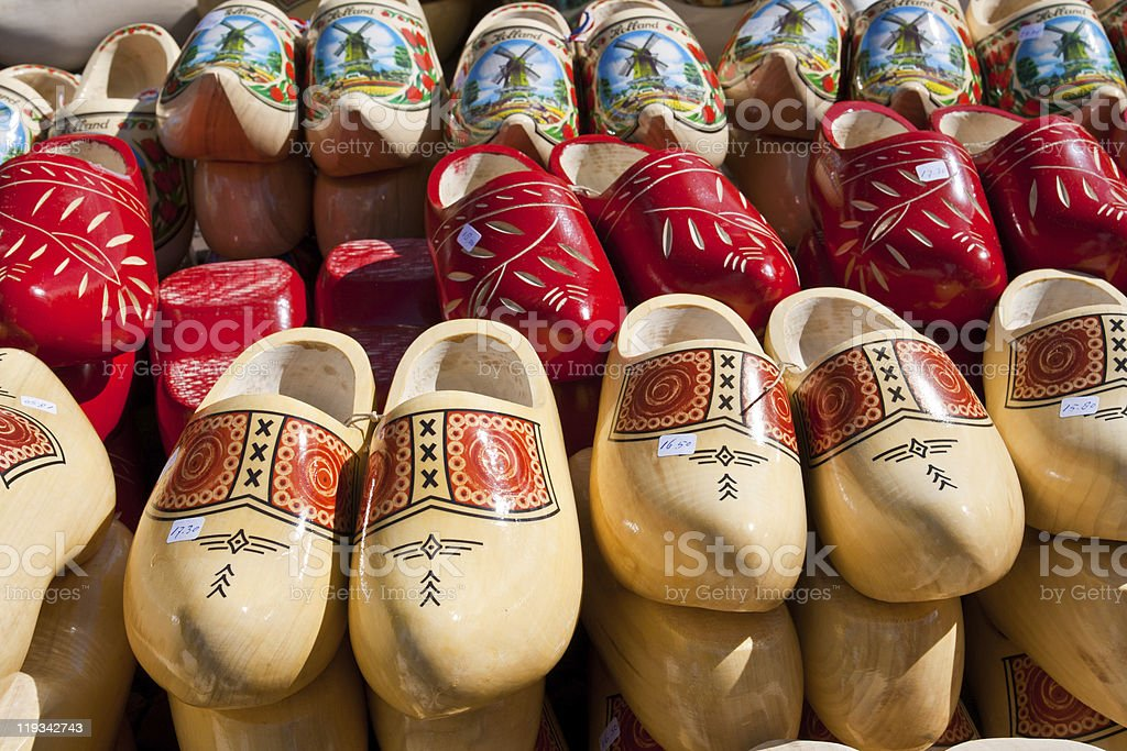 Wooden clogs royalty-free stock photo