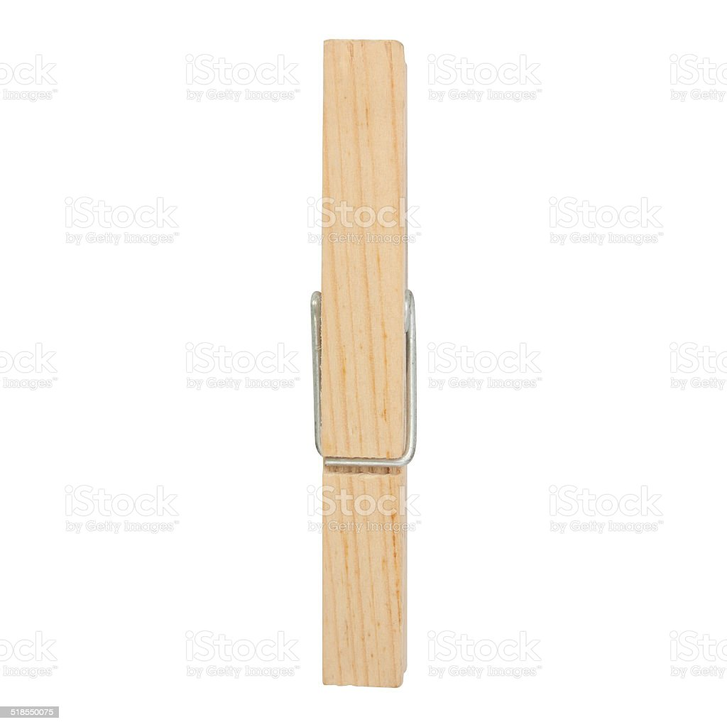 wooden cloth pegs stock photo