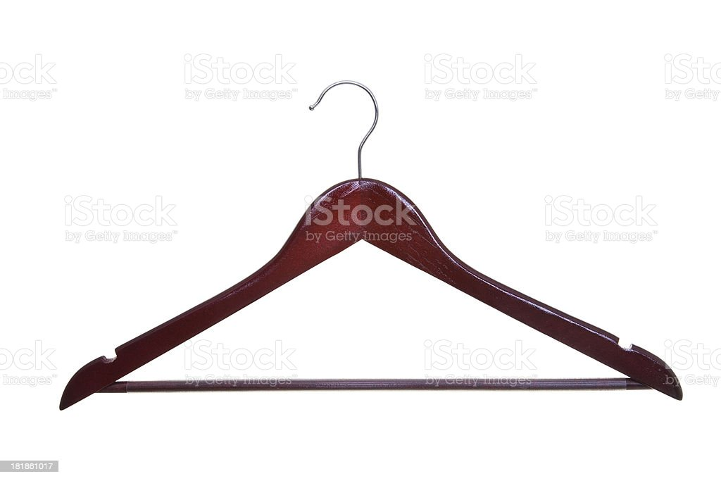Wooden clothes hanger royalty-free stock photo